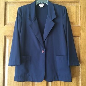 Worthington Petite Essentials Navy Suit Jacket 10P